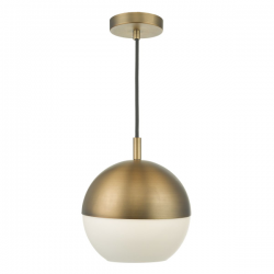 Dar Lighting AND0142 Andre 1lt Pendant Aged Brass
