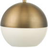 Dar Lighting AND0142 Andre 1lt Pendant Aged Brass