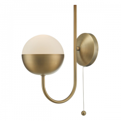 Dar Lighting AND0742 Andre 1lt Wall Light Aged Brass
