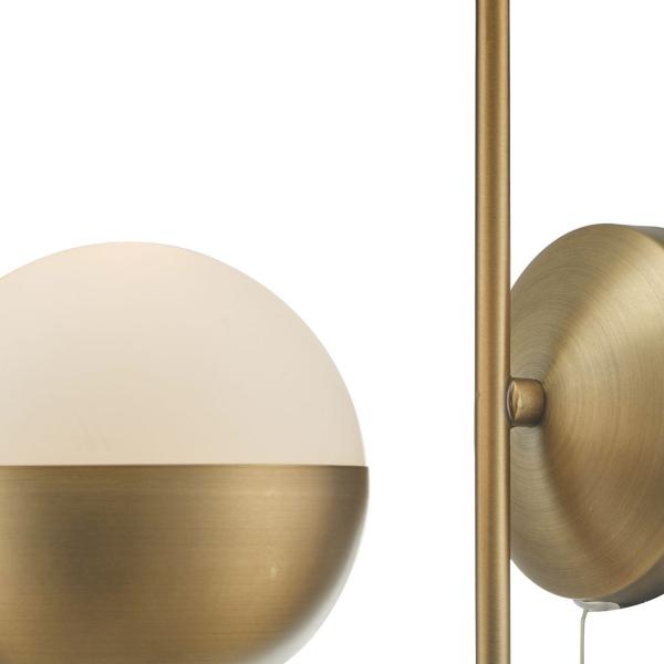 Dar Lighting AND0742 Andre 1lt Wall Light Aged Brass