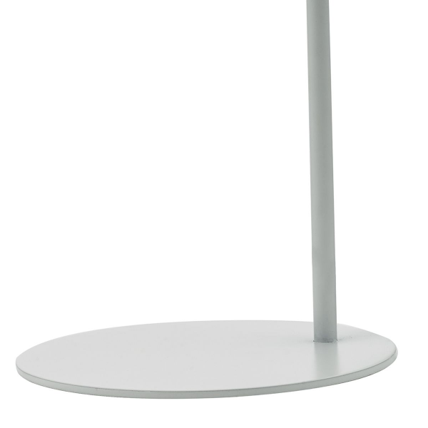 Dar Lighting EFF4139 Effie Table Lamp Soft Matt Grey and White