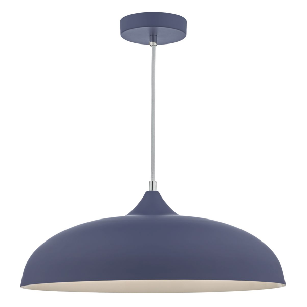 Dar Lighting KAE0123 Kaelan 1lt Pendant Blue & White