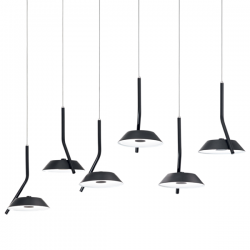 Ideal Lux 190778 Barby Matt black Pendant Light