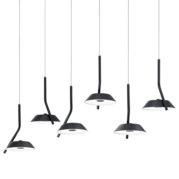 Ideal Lux 190778 Barby Matt black Pendant Light