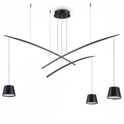 Ideal Lux 196978 Fish SP3 Matt Black Pendant Light
