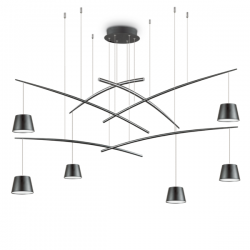 Ideal Lux 196992 Fish SP6 Matt Black Pendant