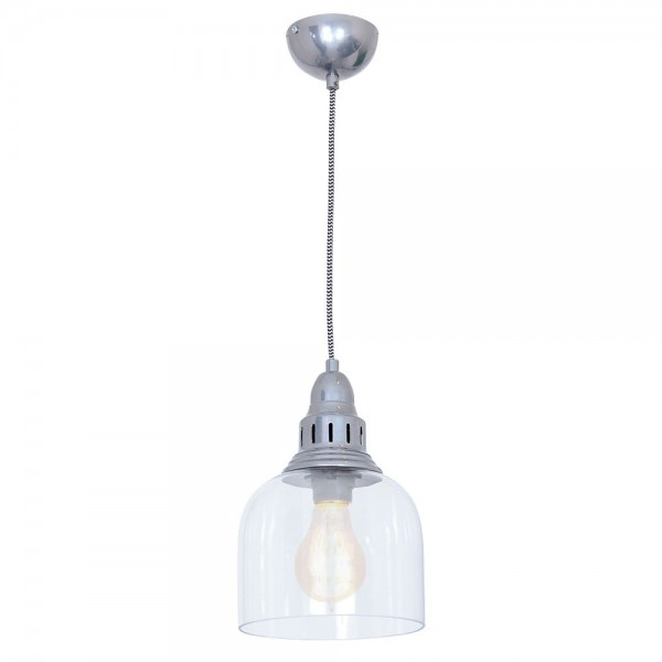 Culinary Concepts LX-2133-SLV Large Whitechapel Hanging Light Dull Chrome