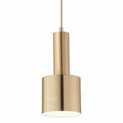 Ideal Lux 231570 Holly SP1 Pendant Light in Brushed Brass