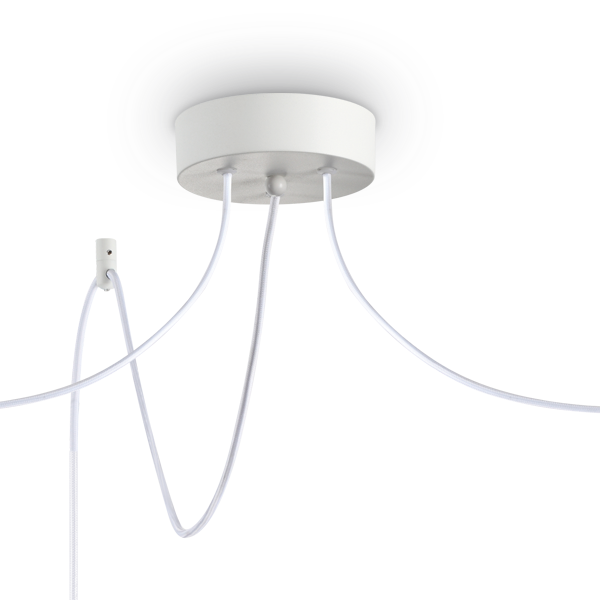 Ideal Lux 231594 Holly SP3 3 Light Pendant in White