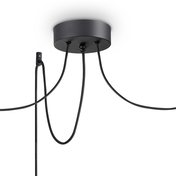 Ideal Lux 231594 Holly SP3 3 Light Pendant in Black