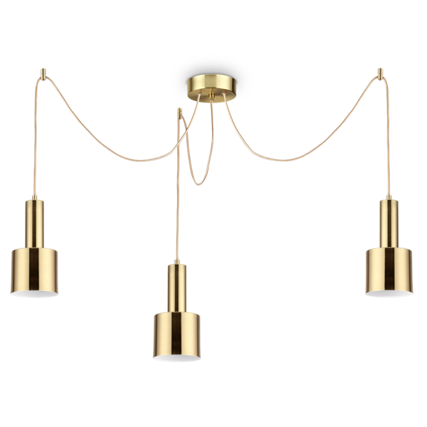 Ideal Lux 231600 Holly SP3 3 Light Pendant in Satin Brass