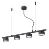 Ideal Lux 235455 Minor Linear SP4 Pendant in Black