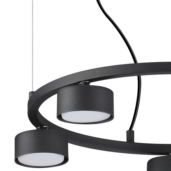 Ideal Lux 235516 Minor Round SP5 5 Light Pendant in Black