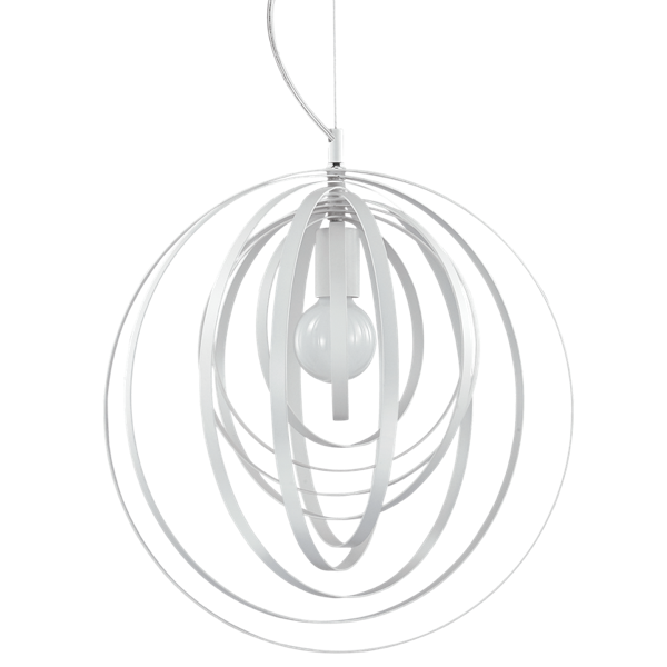 Ideal Lux 103723 Disco SP1 Pendant Light in Metal White