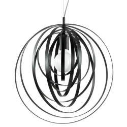 Ideal Lux 114262 Disco SP1 Pendant Light in Black