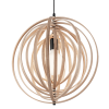 Ideal Lux 138275 Disco SP1 Pendant Light in Natural Wood