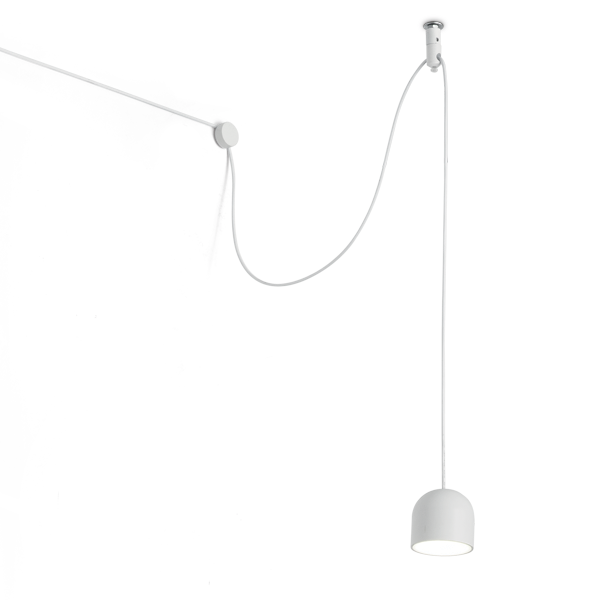 Ideal Lux 196794 Tall SP1 Small Pendant in White
