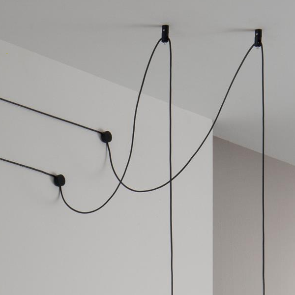 Ideal Lux 196800 Tall SP1 Small Pendant Light in Black