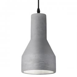 Ideal Lux 110417 Oil-1 SP1 Pendant Light in Concrete