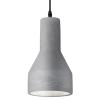Ideal Lux 110417 Oil-1 SP1 Pendant Light in Concrete