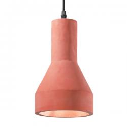 Ideal Lux 144320 Oil-1 SP1 Pendant Light in Terracotta
