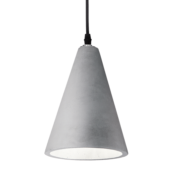 Ideal Lux 110424 Oil-2 SP1 Pendant Light in Concrete