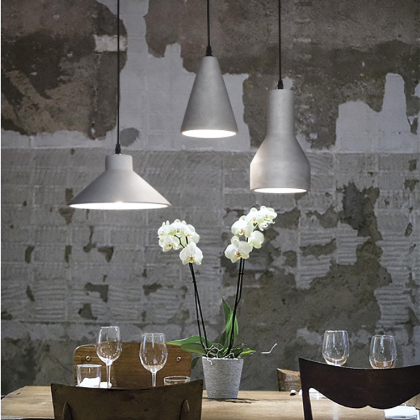 Ideal Lux 129082 Oil-5 SP1 Pendant Light in Concrete