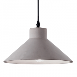 Ideal Lux 129099 Oil-6 SP1 Pendant Light in Concrete