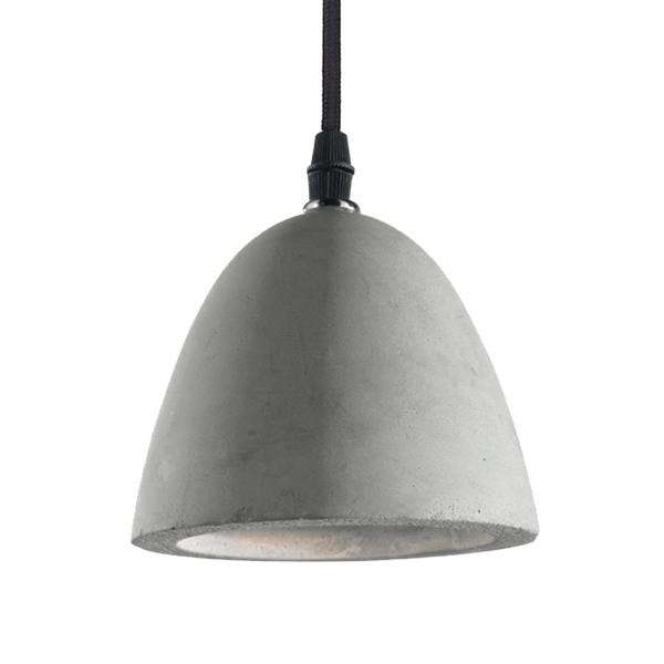 Ideal Lux 110462 Vinegar SP1 Pendant Light in Concrete