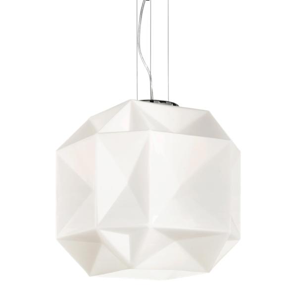 Ideal Lux 022499 Diamond SP1 Pendant Light in White