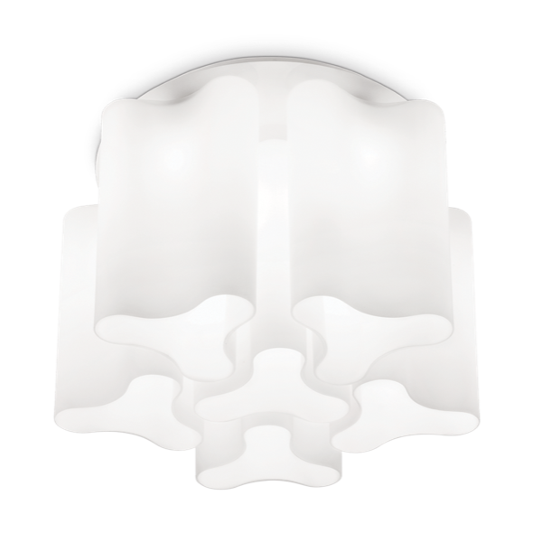 Ideal Lux 125503 Compo PL6 Ceiling Light in White