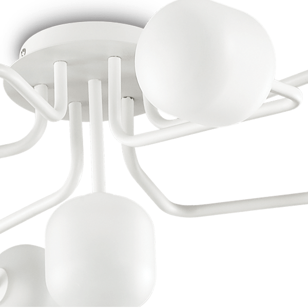 Ideal Lux 174419 Mallow PL7 Pendant Light in White