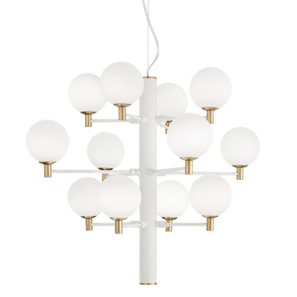 Ideal Lux 197302 Copernico SP12 Pendant Light in White