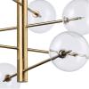 Ideal Lux 200125 Equinoxe SP12 Pendant Light in Antique Brass