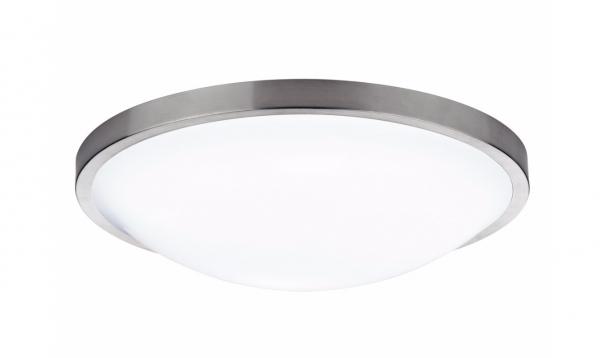 Dar Lighting DOV5246 Dover Round Acrylic Flush IP44 Satin Chrome