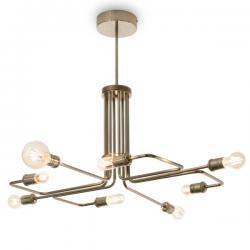 Ideal Lux 160269 Triumph SP8 Pendant Light in Antique Brass