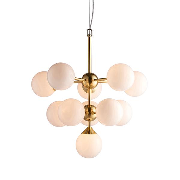 Endon Lighting 76500 Oscar 11 Light Pendant in Brushed Brass