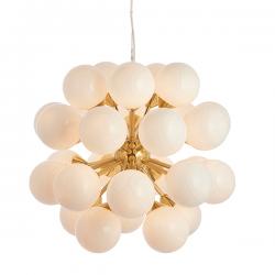 Endon Lighting 76499 Oscar 28 Light Pendant in Brushed Brass