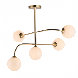 Endon Lighting 75939 Otto 5 Light Ceiling Light in Brushed Brass