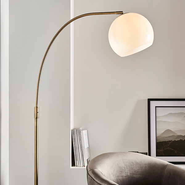 Endon Lighting 76613 Otto 5 Floor Lamp in Brushed Brass and Marble details