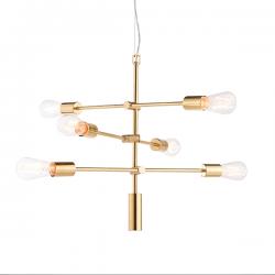 Endon Lighting 77114 Rubens 6 Light Pendant in Brushed Brass