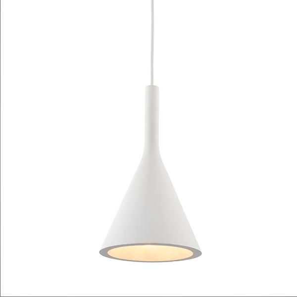 Endon Lighting 80673 Jakob Pendant Light in White Plaster