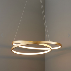 Endon Lighting 72479 Scribble Pendant Light 33w LED Finished in Gold Leaf