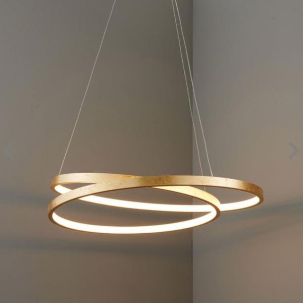 Endon Lighting 72479 Scribble Pendant Light 33w LED Finished in Gold Leaf