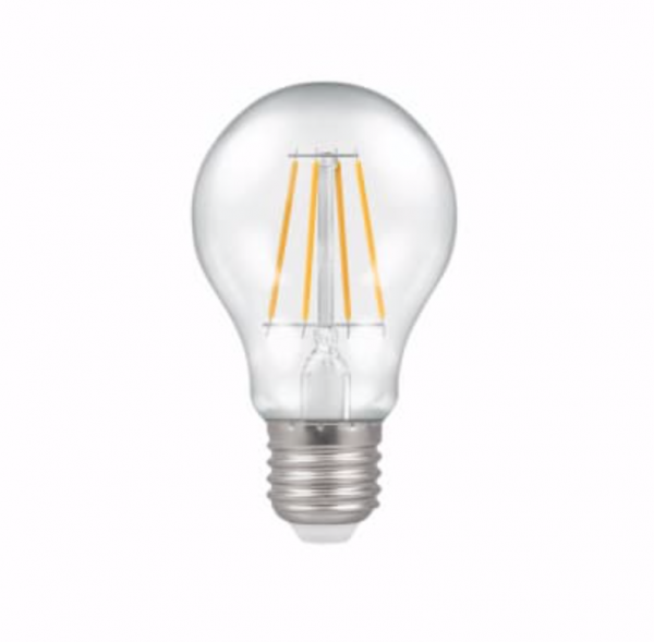Crompton Lighting 4214 7.5W Warm White Clear LED Dimmable GLS