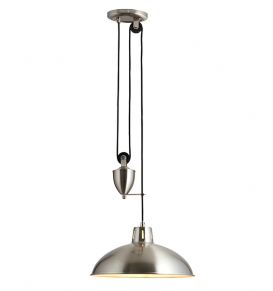 Endon Lighting POLKA-SN Polka Rise & Fall Pendant