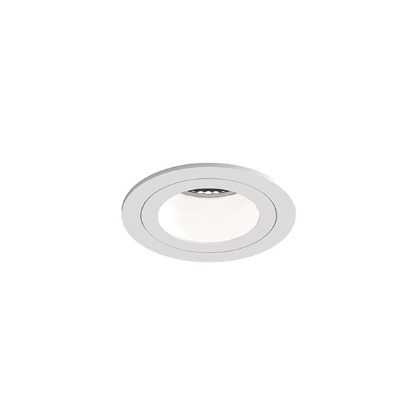 Astro Pinhole Slimline Round Fixed Fire-Rated IP65 Bathroom Downlight in Matt White