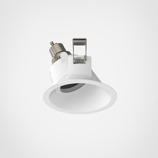 Astro Minima Slimline 25 Fire-Rated IP65 Bathroom Downlight in Matt White