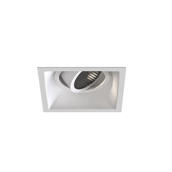 Astro Minima Slimline Square Adjustable Fire-Rated Indoor Downlight in Matt White