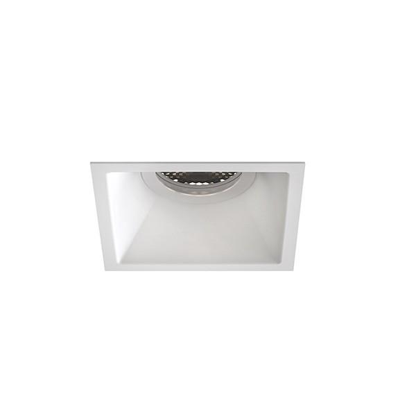 Astro Minima Slimline Square Fixed Fire-Rated IP65 Bathroom Downlight in Matt White